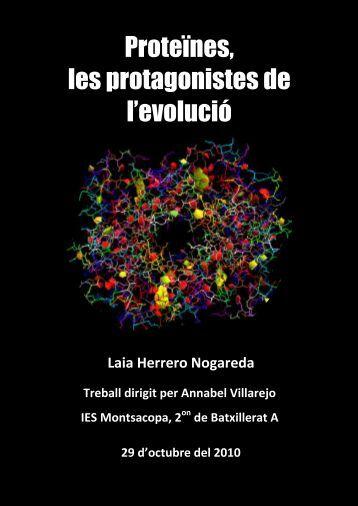 Proteïnes, les protagonistes de l'evolució - UdG