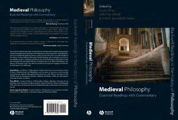Blackwell Readings in Medieval Philosophy - Fordham University ...