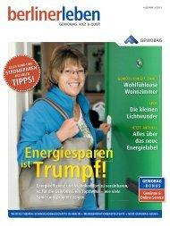 Ausgabe 3/2011 unseres Kundenmagazins berlinerleben - Gewobag