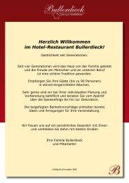 Herzlich Willkommen im Hotel-Restaurant Bullerdieck!