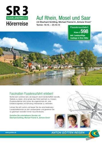 Hörerreise Auf Rhein, Mosel und Saar - Anton Götten Reisen