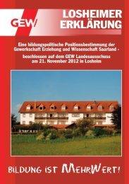 Losheimer Erklärung - Eine bildungspolitische ... - GEW-Saarland