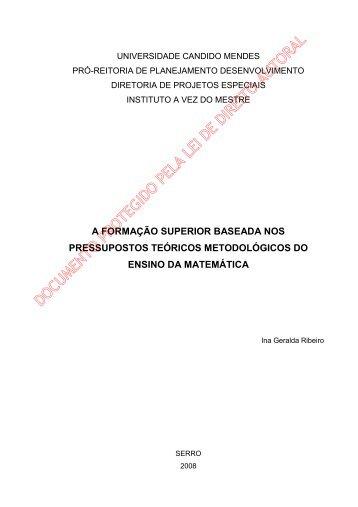Ina Geralda Ribeiro - AVM Faculdade Integrada