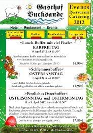 Hotel – Restaurant – Events - Gasthof Bucksande