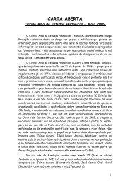 CARTA ABERTA - Centro de Mídia Independente