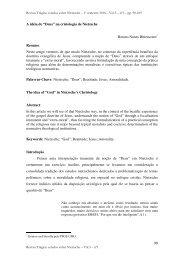 "90 A idéia de ""Deus"" na cristologia de Nietzsche ... - Revista Trágica"