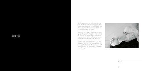 Das Programm unseres Architekturbüros um - Bruns Architekten