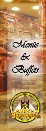 Menüs & Buffets - Badisch Brauhaus
