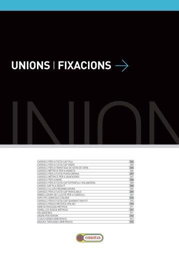 UNIONS I FIXACIONS > - fustes esteba