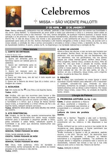 folheto missa SVP - Palotinos