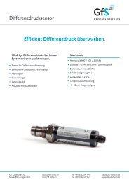 Differenzdrucksensor Effizient Differenzdruck überwachen. - GfS