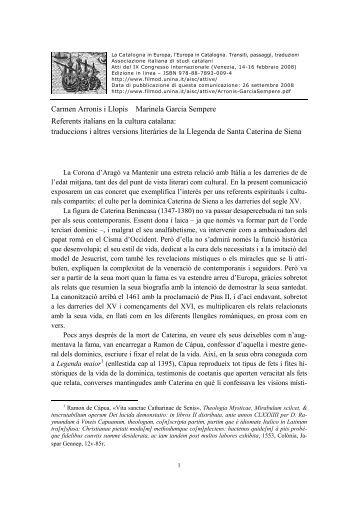 Carmen Arronis i Llopis Marinela Garcia Sempere Referents ... - RUA