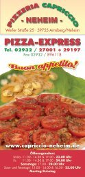 Jetzt neu! Capriccio Partyservice - Pizzeria Capriccio -Neheim