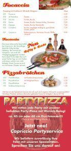 Jetzt neu! Capriccio Partyservice - Pizzeria Capriccio -Neheim - Seite 7