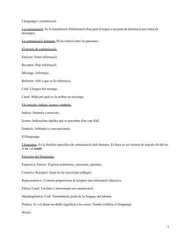 Llenguatge i comunicació La comunicació - Mundodescargas.com