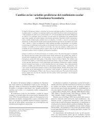 Cambios en las variables predictoras del rendimiento escolar en ...