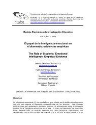 El papel de la inteligencia emocional en el alumnado - Redie