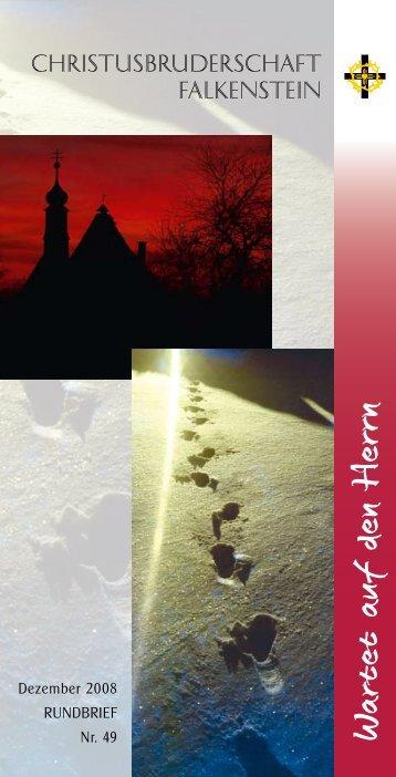 In Erwartung leben - Christusbruderschaft Falkenstein