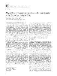 Diabetes y riñón: predictores de nefropatía y factores de ... - Nefrología