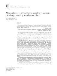 Marcadores y predictores renales y factores de riesgo ... - Nefrología