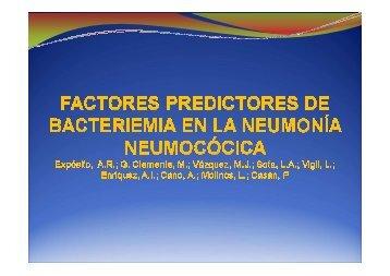 Factores predictores de bacteriemia en la neumonía ... - Asturpar
