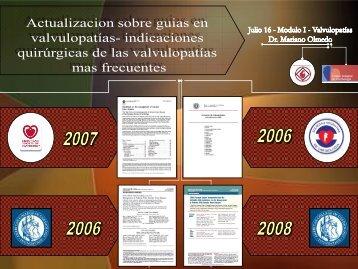 Actualización sobre guías en valvulopatias. Indicaciones ... - FaC