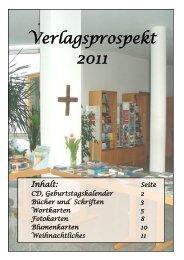 Verlagsprospekt 2011 - Christusbruderschaft Falkenstein