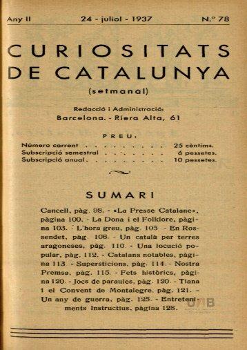 n.°78 curios itats de catalunya
