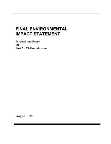 Final programmatic environmental impact statement