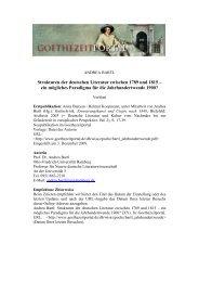 Strukturen der deutschen  Literatur zwischen 1789 und 1815 - Das ...