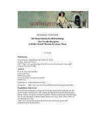 Die Resurrektion des Dichterkönigs - Zur Novalis-Rezeption in - Das ...