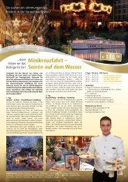 Minikreuzfahrt – Soirée auf  dem Wasser - Anton Götten Reisen