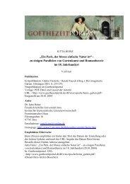 Ein Park, der blosse einfache Natur ist - Das Goethezeitportal