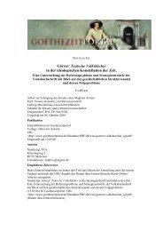 Görres' Teutsche Volksbücher in der ideologischen Konstellation ...