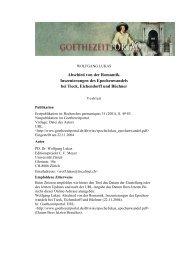 Abschied von der Romantik bei Tieck, Eichendorff und - Das ...