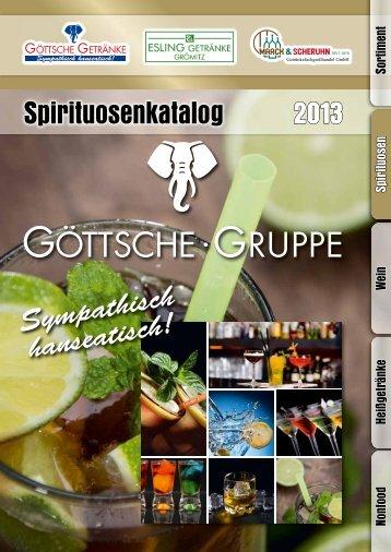 2013 uosenkatalog Spirituosenkatalog - Göttsche Getränke