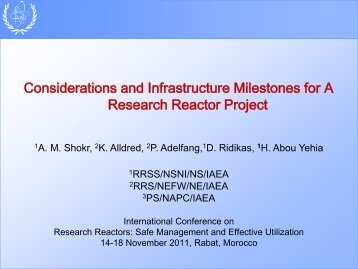 Considerations and Infrastructure Milestones for a Research Reactor