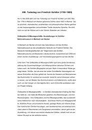 200. Todestag von Friedrich Schiller - Das Goethezeitportal