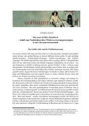 Das neue Schiller-Handbuch  - Das Goethezeitportal