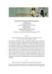 Entwurf der Wirzburger Schulen Einrichtung - Das Goethezeitportal