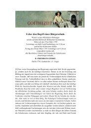 Ueber den Begrif einer Bürgerschule - Das Goethezeitportal