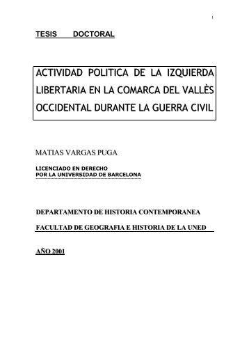 ACTIVIDAD POLITICA DE LA IZQUIERDA ... - e-spacio UNED