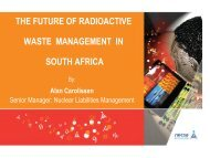 the future of radioactive waste management in south africa - Nuclear ...