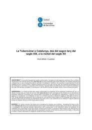 La Tuberculosi a Catalunya, des del segon terç del segle XIX ... - Tesis