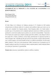 CONTRIBUCIÓ DE LA MEDIACIÓ A UNA CULTURA DE L ...