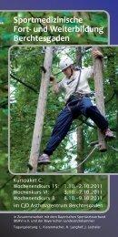Sportmedizinische Fort- und Weiterbildung ... - CJD Bonn
