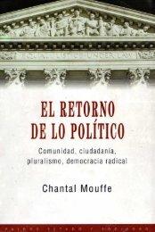El retorno de lo politico - Facultad de Periodismo y Comunicación ...