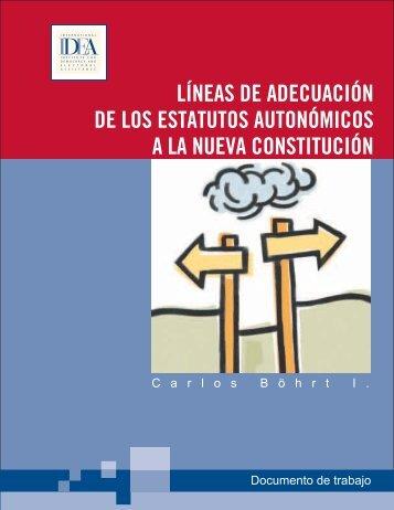 LÍNEAS DE ADECUACIÓN DE LOS ESTATUTOS ... - ConstitutionNet