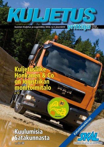 Kuljetusliike Honkanen & Co on logistiikan monitoimitalo - SKAL