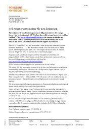 Läs pressmeddelandet - Pensionsmyndigheten